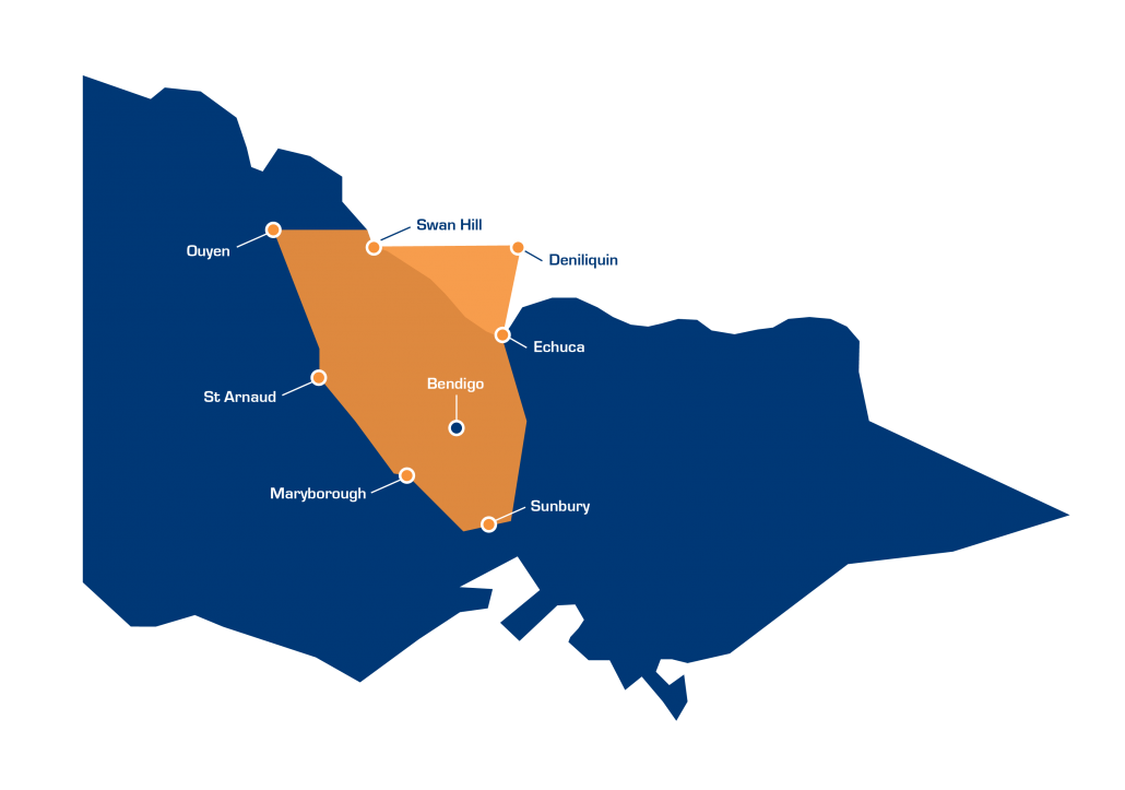 Bendigo Bearings Coverage map